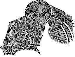 drawn bull polynesian pencil and in color drawn bull polynesian