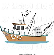royalty free stock cartoon designs of fishing trawls