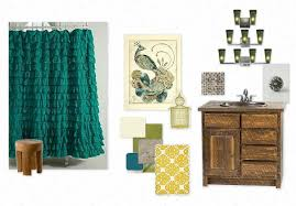 peacock bathroom decor interior design modern