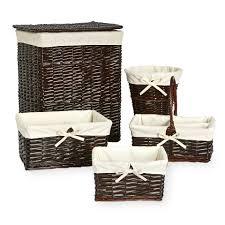 koala baby 5 pack split willow storage basket set grey babies