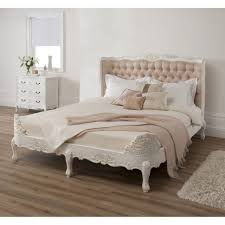 bedding cute tufted bed frame french country with wingback
