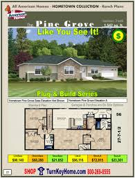 pine grove all american modular home ranch hometown collection