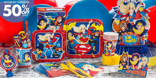 Superman Birthday Party Decoration Ideas Dc Super Hero Girls Party Supplies Wonder Woman Supergirl