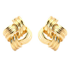gold clip on earrings gold clip on earrings designer gold clip earrings