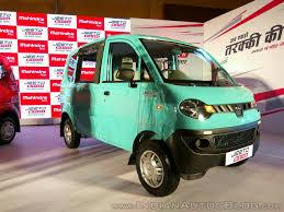 indian car mahindra mahindra jeeto minivan india launch front three quarter indian
