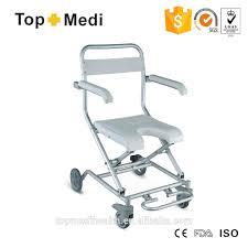 aluminum foldable medical elderly bath shower chair with wheels