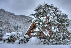 winter winter snowy japan cottage snow wallpaper iphone 5 for hd