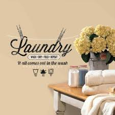 laundry laundry room wallpaper border quote peel and stick wall