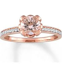 morganite ring gold don t miss this bargain morganite ring white topaz accents 10k