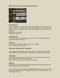 polycarbonate roller shutters roller shutters