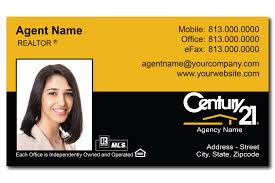 Century 21 Business Cards Realtor Business Cards Card Design Ideas