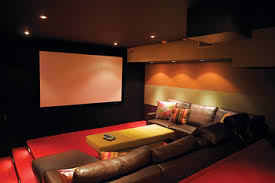 Comfortable Home Theater Seating Chappaqua Tudor U0027s Media Room Benefits From Clean Lines