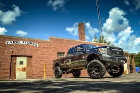 Ford F350 Monster Truck - gallery black lifted ford f350 22x11 buckshot stain black