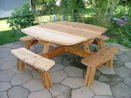 cedar picnic table by jburklow lumberjocks com woodworking