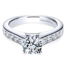 channel set engagement rings gabriel er3962 channel set engagement ring freedman