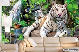 albino tigers wall murals albino tigers
