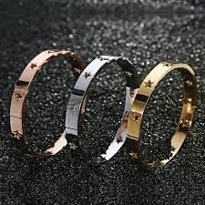 star bangle bracelet images Star bangle bracelet stainless steel pearls and rocks jpg