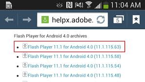 how to install adobe flash player on a samsung galaxy s4 to