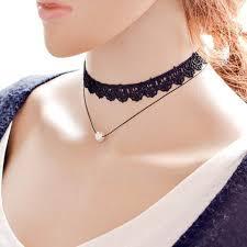 black collar necklace fashion images Fashion black collar neck chain sexy choker necklace women jpg