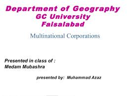 Universities As Multinational Enterprises The Multinational Multinational Corporations Mncs