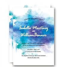 summer wedding invitations modern cheap watercolor summer wedding invitation wip044 wedding