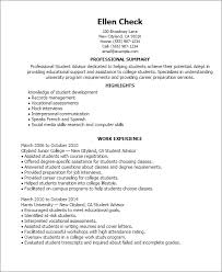 On Campus Job Resume by Professional Student Advisor Templates To Showcase Your Talent