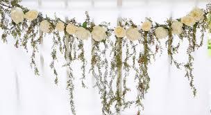 wedding arch garland cascading greenery and roses silk