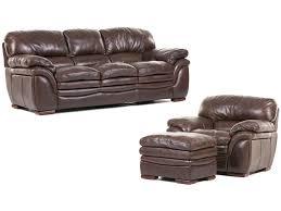Sofa Ottoman Futura Living Room Santa Cruz Leather Sofa Chair And Ottoman