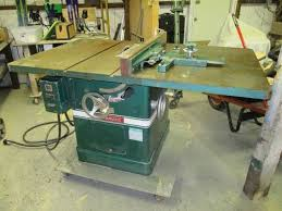 powermatic 10 inch table saw researching powermatic 72 cabinet saw with unusual fence before eval