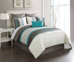 Gray Down Comforter Brown White Turquoise Pleat Down Comforter With Gray Cotton