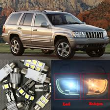 lebron white jeep 10x canbus error free led interior light kit package for 1999 2004