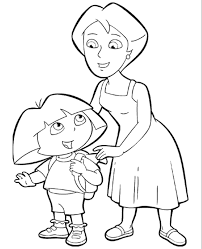 dora coloring pages 12 print color free