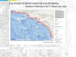 california map in us u s coast survey maps of california south coast san francisco