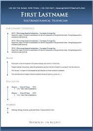 microsoft resume templates free editable chronological resume