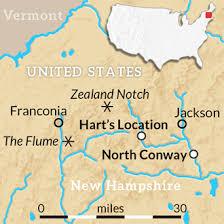 map usa new hshire usa new hshire white mountains wayfarers walking tour