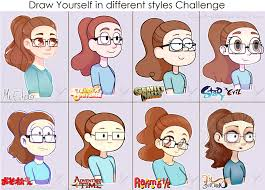Meme Drawings - draw yourself in different styles meme by carolina1358 on deviantart