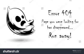 halloween web template 404 error page vector template websitehalloween stock vector