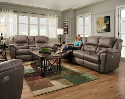 2 Seat Leather Reclining Sofa by Reclining Sofa With 2 Seats That Recline And Power Headrests By