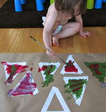 toddler crafts painted tree garland toddler activities
