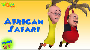 safari cartoon african safari motu patlu in hindi 3d animation cartoon for kids