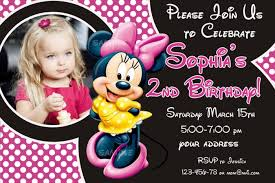 personalized minnie mouse birthday invitation sample invitations