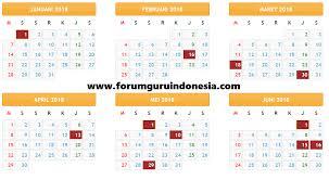 Kalender 2018 Hari Libur Indonesia Kalender Pendidikan 2017 2018 Lengkap Hari Libur Excel
