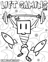 coloring pages u2013 twitch streamer and artist