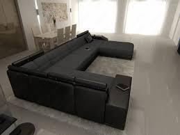 xxl sofa u form xxl sectional leather sofa matera with led lights
