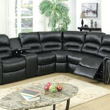 Seven Piece Reclining Sectional Sofa by Teramo Black Leather Reclining Sectional Sofa Home Theater Seating