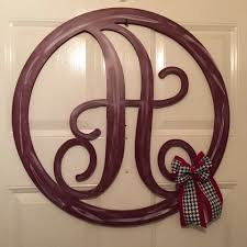 Home Decor Initials Letters Monogram Door Decor Monogram Door Hanger Door Hanger Home