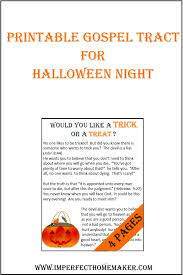 Religious Halloween Crafts - free printable cards with a message and scripture to hand out