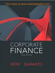 9 corporate finance 3rd by berk demarzo pearson 2015 authorstream
