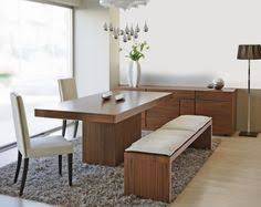 statue of modern bench style dining table set ideas perfect