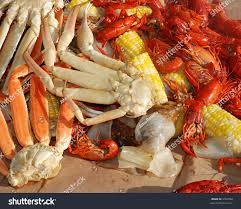 seafood medley steaming crab legs crayfish stock photo 2954582